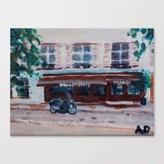 French Cafe Painting Canvas Print