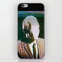 returns iPhone & iPod Skins featuring Slenderdad Returns by Art of the Glitch