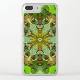 Laughing Grass Hoppers Clear iPhone Case
