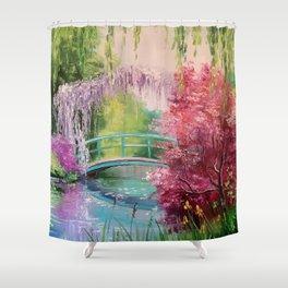 In the garden of Monet Shower Curtain
