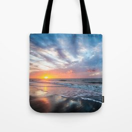 Daybreak at Hilton Head - Sunrise Along Beach at Hilton Head Island in South Carolina Tote Bag