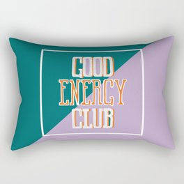 Good Energy Club- turquoise, orange, and lavender Rectangular Pillow