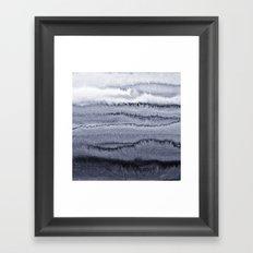 WITHIN THE TIDES - VELVET GREY Framed Art Print