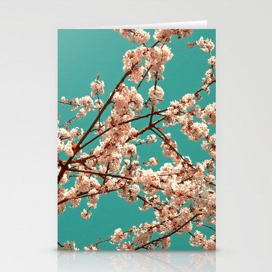 spring tree XVII Stationery Cards