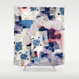 patchy collage Shower Curtain