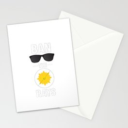 Ban the Rays Stationery Cards