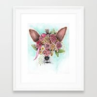 yorkie Framed Art Prints featuring Yorkie by Carmen McCormick