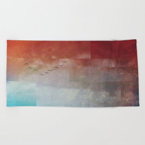Fractions A86 Beach Towel