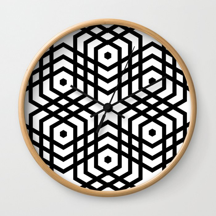 Op Art 168 Wall Clock