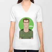 murray V-neck T-shirts featuring Andy Murray Tennis Illustration by Gary  Ralphs Illustrations