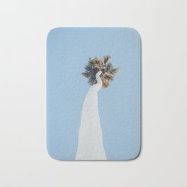 Painted White Palm Tree in Los Angeles Bath Mat