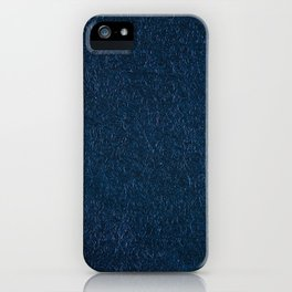 Navy fibrous texture abstract iPhone Case