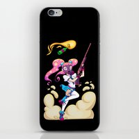 magical girl iPhone & iPod Skins featuring Riot Magical Girl by Thais Magnta Canha