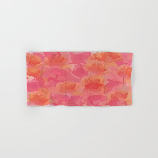 Soft Rose Bouquet Abstract Hand & Bath Towel