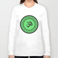 islam Long Sleeve T-shirts featuring Black And Green Islam Religious Symbol by ArtOnWear