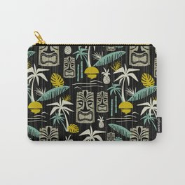 Island Tiki - Black Carry-All Pouch