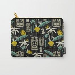 Island Tiki - Black Carry-All Pouch