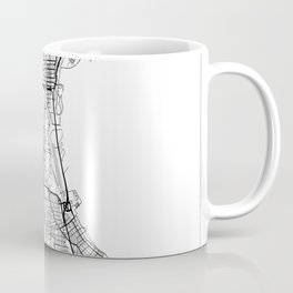 Milwaukee Map White Coffee Mug