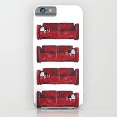 cat in a red sofa  Slim Case iPhone 6s