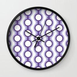 Retro-Delight - Conjoined Circles - Lavender Wall Clock