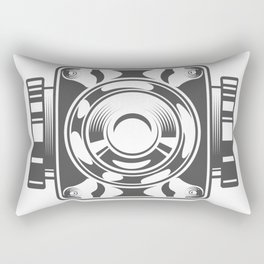 Mechanical box motorcycle with cover in design fashion modern monochrome style illustration Rectangular Pillow