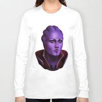 mass effect Long Sleeve T-shirts featuring Mass Effect: Aria T'Loak by Ruthie Hammerschlag