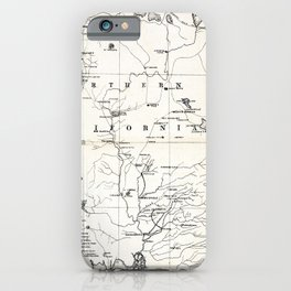 Northern California Map 1866 iPhone Case