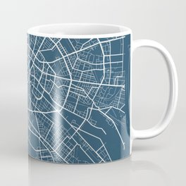 Berlin Blueprint Street Map, Berlin Colour Map Prints Coffee Mug