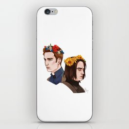 CATWS Steve and Bucky Floral Crowns iPhone Skin