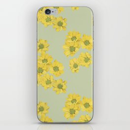 Yellow daisy pattern iPhone Skin