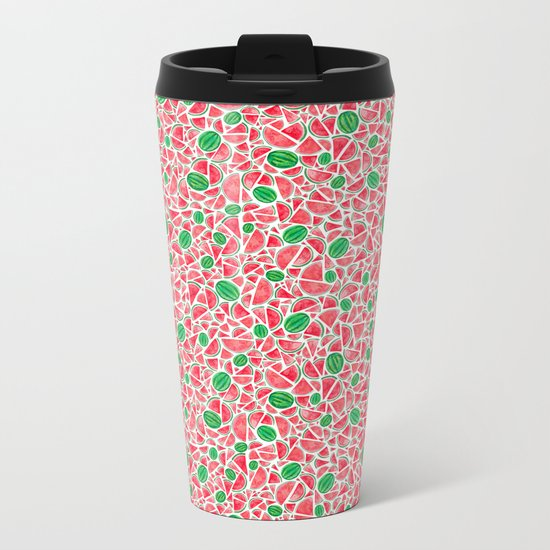 Watermelons Metal Travel Mug