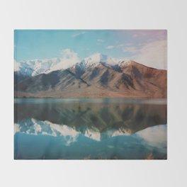 New Zealand Glacier Landscape Throw Blanket