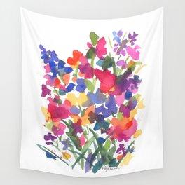 Flower Sprinkles Wall Tapestry