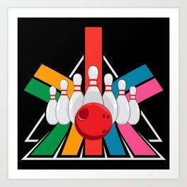 Vintage Bowling Art Print