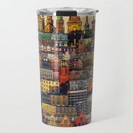 Copenhagen Facades Travel Mug