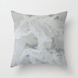 Cheval de rêve  Dream Horse  Original multi media painting by Tracy Sayers Trombetta Throw Pillow