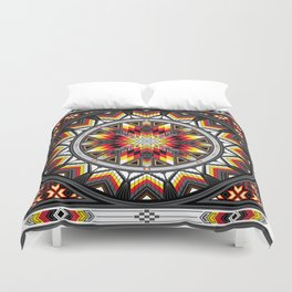 Sacred Places Red Duvet Cover