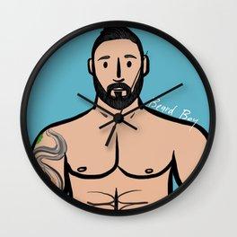 Beard Boy: Robert Wall Clock