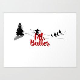 Ski at Mt. Buller Art Print