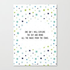 One day I will Canvas Print