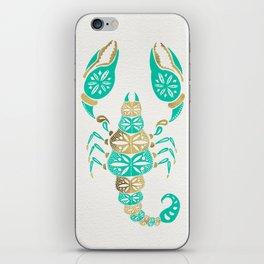 Scorpion – Turquoise & Gold iPhone Skin