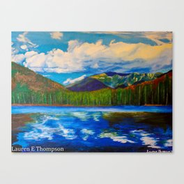 Lonesome Lake Painting Canvas Print