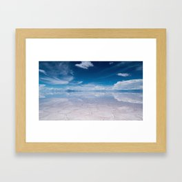 Salt Flats of Salar de Uyuni, Bolivia #1 Framed Art Print