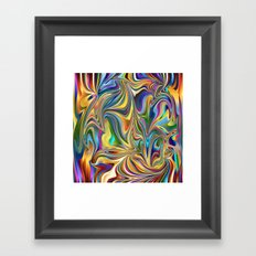 Swirls of Color Framed Art Print