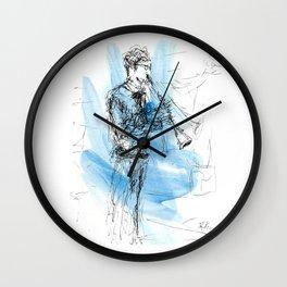 Solo of clarinet Wall Clock