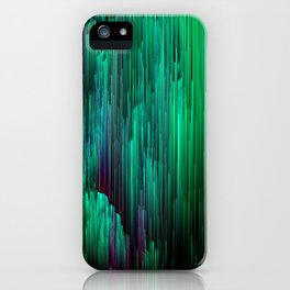 Lit from Below - Abstract Glitch Pixel Art iPhone Case