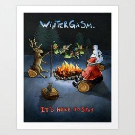 Wintergasm Art Print