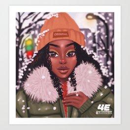 Winter in Brampton Art Print