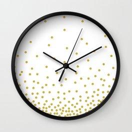 Golden Confetti Wall Clock