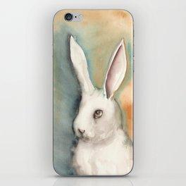 Portrait of a White Rabbit iPhone Skin